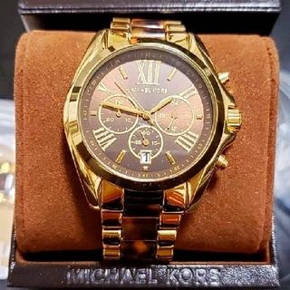 マイケルコース(Michael Kors)の【正規品・美品・送料込】MICHAEL KORS ケース付き べっ甲腕時計(腕時計)