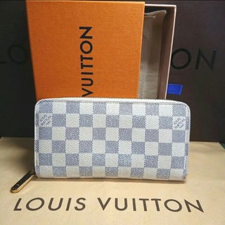 LOUIS VUITTON美品✨ルイヴィトン ダミエ アズール ジッピー 長財布