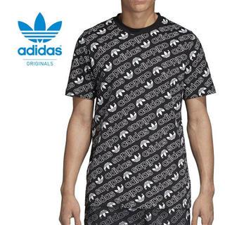 アディダスオリジナルス 総柄 モノグラムTシャツ DH2750 ブラック