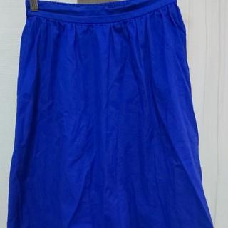ジーユー(GU)のGU イージーカラーフレアスカート(ひざ丈スカート)
