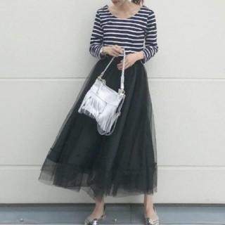 ZARA - 人気のチュールスカート ロングスカート