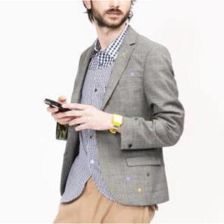 フラボア(FRAPBOIS)のフラボア セットアップ 星刺繍 スター グレー メンズ サイズ2(セットアップ)