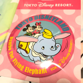 Disney - ディズニー レトロシリーズ 缶バッジ ダンボ
