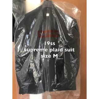 シュプリーム(Supreme)の※送料込 supreme plaid suit M black 19ss(セットアップ)