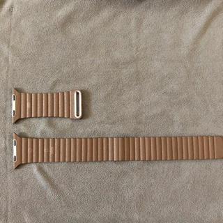 アップル(Apple)の純正レザーループバンド L 42mm 44mm apple watch(その他)