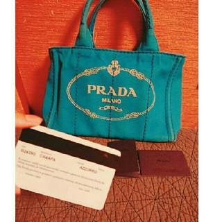 プラダ(PRADA)のPRADA ❤カナパ AZZURRO❤5万→3万値下げしました。(ハンドバッグ)