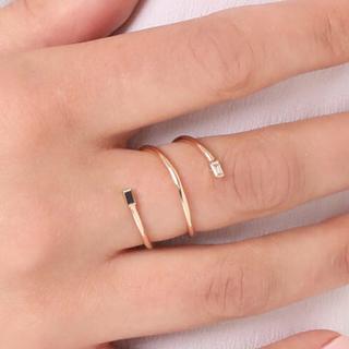 ドゥーズィエムクラス(DEUXIEME CLASSE)のzoe chicco 正規価格6万☆14kダイヤモンドリング(リング(指輪))