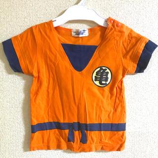 ドラゴンボール(ドラゴンボール)の美品✨孫悟空 ドラゴンボール Tシャツ 95 武道着 コスプレ キッズ 子供服(Tシャツ/カットソー)