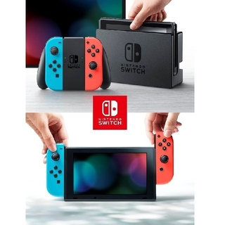 Nintendo Switch - 【美品】おまけ有り ニンテンドー スイッチ ネオンブルー/レッド