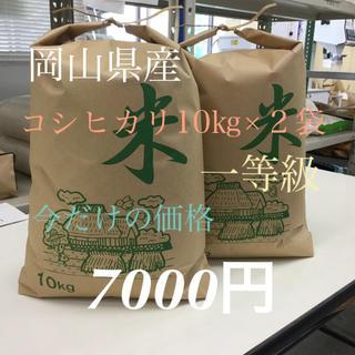 30年度 コシヒカリ 一等級 10キロ×2袋  混じりっけなし