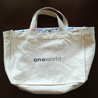 JAL(日本航空) - JAL 帆布製 トートバッグ one world