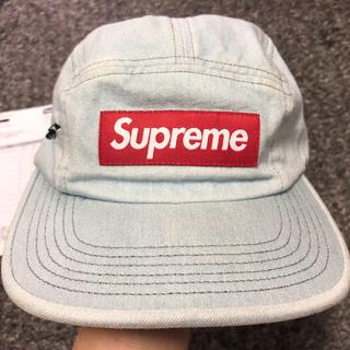 Supreme - 1回着用デニムスライドジップキャンプキャップcamp cap supreme