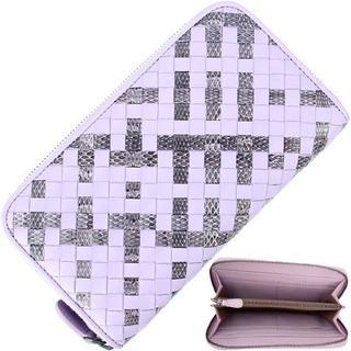 ボッテガヴェネタ(Bottega Veneta)のボッテガヴェネタ ラウンドファスナー長財布 本革 ライトパープル(財布)
