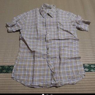 ユニクロ(UNIQLO)のUNIQLO ユニクロ リネン ブレンド チェックシャツ(シャツ)