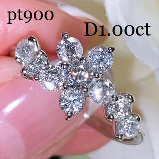 ポンテヴェキオ(PonteVecchio)のpt900  フラワーデザイン ダイヤモンドリング 1ct 美品(リング(指輪))