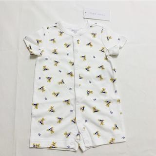 ラルフローレン(Ralph Lauren)のラルフローレン ポロベア コットン ショートオール ロンパース 3Mサイズ(ロンパース)