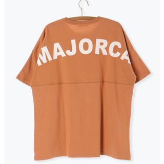 サマンサモスモス(SM2)のSM2 後プリント ビックT シャツ オレンジ(Tシャツ(半袖/袖なし))