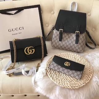 グッチ(Gucci)の両肩リュックサック、ショルダーバッグ、長財布(リュック/バックパック)