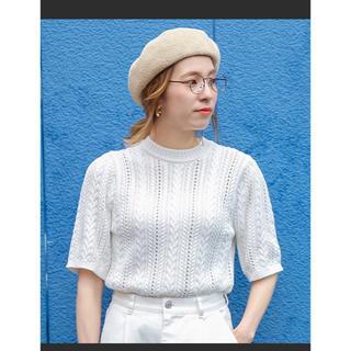 セレクト(SELECT)の【値下げ】select MOCA コットンニット  半袖 フリーサイズ(ニット/セーター)