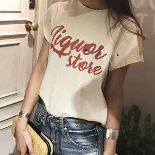 トゥデイフル(TODAYFUL)の新品タグ付 トゥデイフル Tシャツ ナチュラル(Tシャツ(半袖/袖なし))