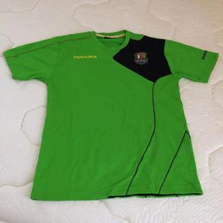 ディアドラ(DIADORA)のDIADORA Tシャツ スポーツウェア グリーン メンズ Mサイズ(ウェア)