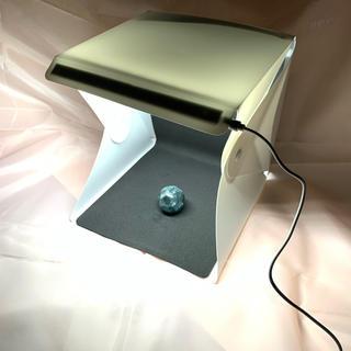 携帯 撮影ボックス  持ち運び 撮影キット LEDライト  背景布2枚