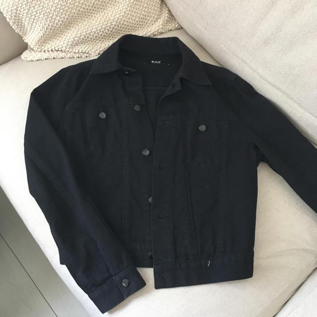 RAF SIMONS(ラフシモンズ)のラフシモンズ ブラックデニムジャケット メンズのジャケット/アウター(Gジャン/デニムジャケット)の商品写真