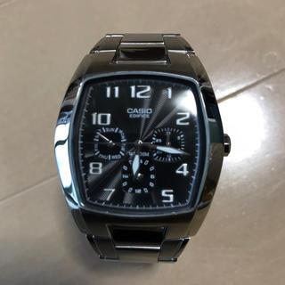 カシオ(CASIO)の【超美品】CASIO EDIFICE EF-306D 海外モデル 電池交換済み(腕時計(アナログ))