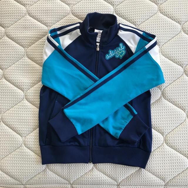 adidas(アディダス)のジャージ上着 キッズ/ベビー/マタニティのキッズ服 女の子用(90cm~)(ジャケット/上着)の商品写真