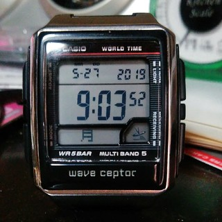 カシオ(CASIO)の★未使用に近い★CASIO ウェーブセプター 電波腕時計(腕時計(デジタル))
