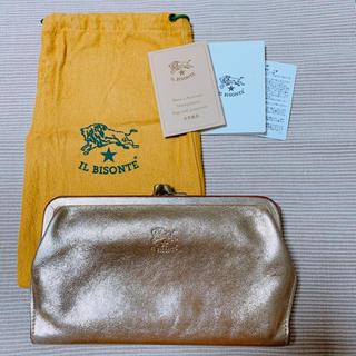 イルビゾンテ(IL BISONTE)のイルビゾンテ 長財布 がま口 ゴールド(長財布)