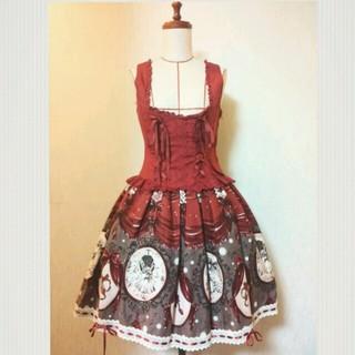 アリスアンドザパイレーツ(ALICE and the PIRATES)の私だけの赤い靴柄スカート&ビスチェ(セット/コーデ)