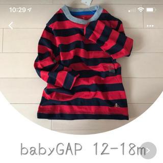 b6c56e2b44ea6 ベビーギャップ(babyGAP)のgap 80 ボーダー 長袖 シャツ(シャツ カットソー)
