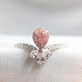 giaファンシーオレンジピンクダイヤモンド指輪(リング(指輪))