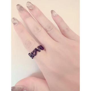 LOVE リング 黒(リング(指輪))