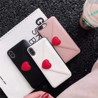 ハート カードケース iPhone7 iPhone8
