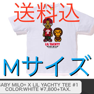 アベイシングエイプ(A BATHING APE)のBABY MILO® X LIL YACHTY TEE #1 白 M(Tシャツ/カットソー(半袖/袖なし))