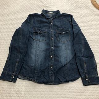 ジーユー(GU)のGU デニムシャツ Lサイズ(Gジャン/デニムジャケット)