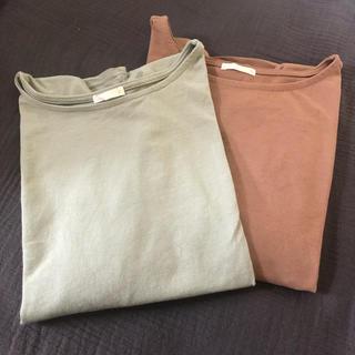 ジーユー(GU)の美品 GUジーユー 2枚セット フレアスリーブTシャツS(Tシャツ(半袖/袖なし))