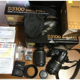 Nikon - NIKON D3100一眼レフデジタルカメラダブルズームキット