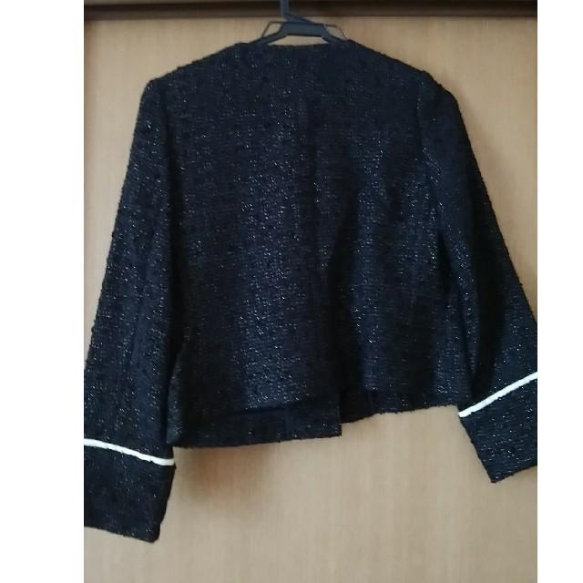 nano・universe(ナノユニバース)の黒ラメジャケット ナノユニバース レディースのジャケット/アウター(ノーカラージャケット)の商品写真