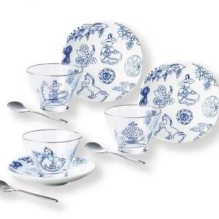 ブローチズ トリオデザート ガラスデザート皿セット(食器)