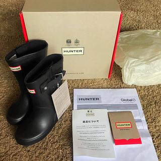 ハンター(HUNTER)の新品未使用 ♡ HUNTER ハンター レインブーツ 長靴 黒(長靴/レインシューズ)
