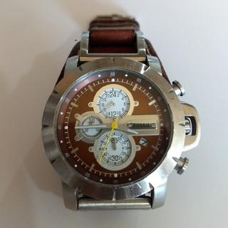 フォッシル(FOSSIL)の【即発送】FOSSIL GENUINE  LEATHER  JR-1157(腕時計(アナログ))