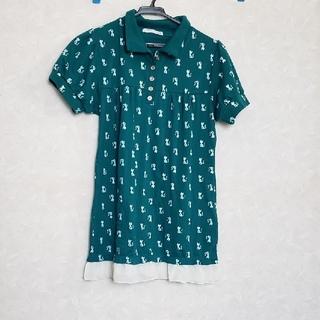 猫柄 半袖 ポロシャツ (ポロシャツ)
