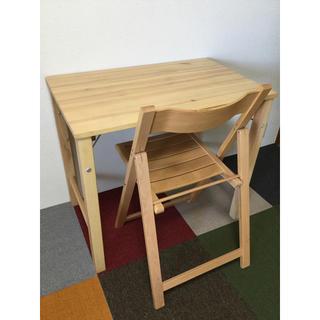 MUJI (無印良品) - 無印良品  折りたたみ机とイスのセット 中古