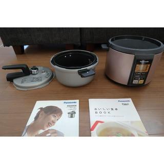 パナソニック(Panasonic)のパナソニック マイコン電気圧力なべ ピンク SR-P37-P(調理機器)