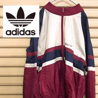 adidas - アディダス adidas ナイロンジャケット トレフォイル 切り返し 90s