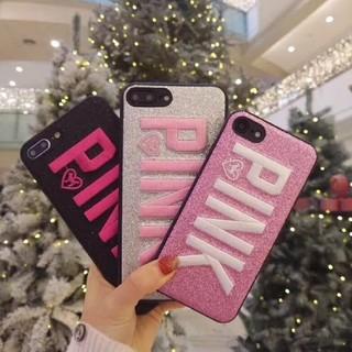 アイフォーン(iPhone)のPINK ロゴ iPhoneケース(iPhoneケース)
