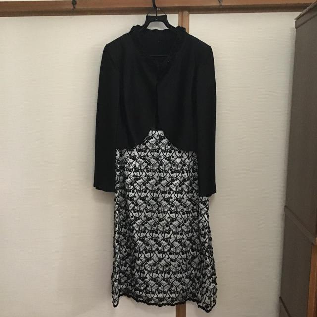 REMALON ブラックフォーマル ワンピース スカーフ付き 17 レディースのフォーマル/ドレス(スーツ)の商品写真